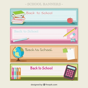 Back to school banners pack