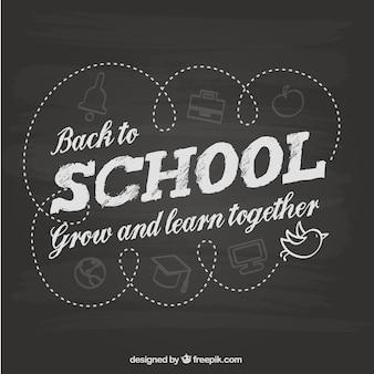 Back to school blackboard