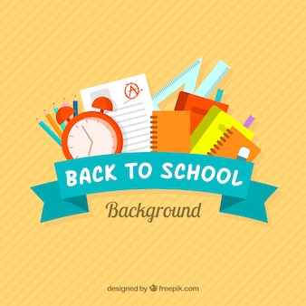 Back to school design with ribbon