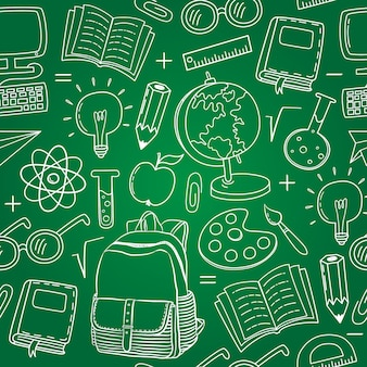 Back to school elements pattern background