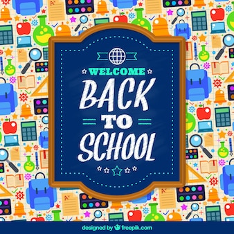 Back to school materials background