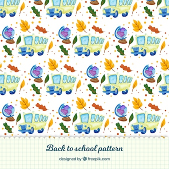 Back to school pattern background