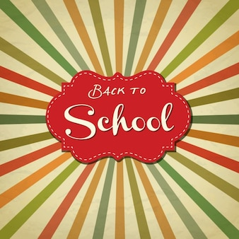 Back to school retro background