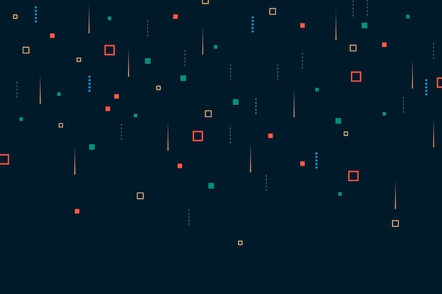 Background abstract pixel rain