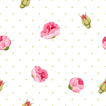 Background decorated with vintage style flowers