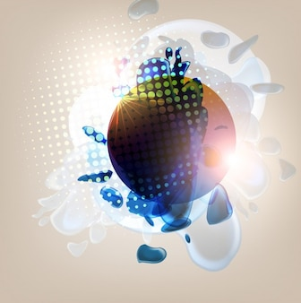 Background decorative cover blot digital art