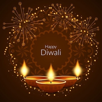 Background for diwali with fireworks