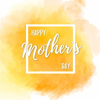 Background for mother's day with yellow watercolors