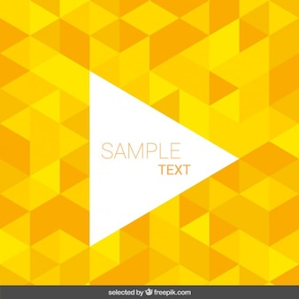 Background made with yellow triangles
