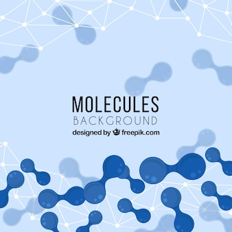 Background of abstract molecules