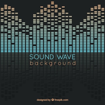 Background of abstract sound wave with reflections