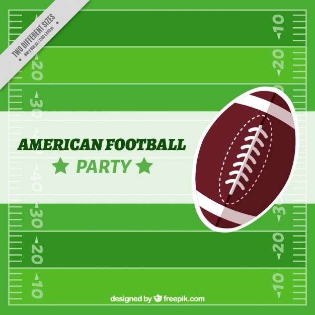 Background of american football field with ball