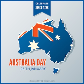 Background of australia map with blue frame