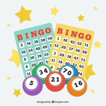 Background of bingo balls with numbers