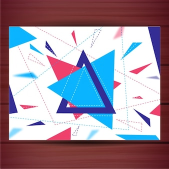 Background of blue and red triangles
