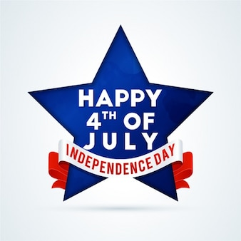 Background of blue star for independence day