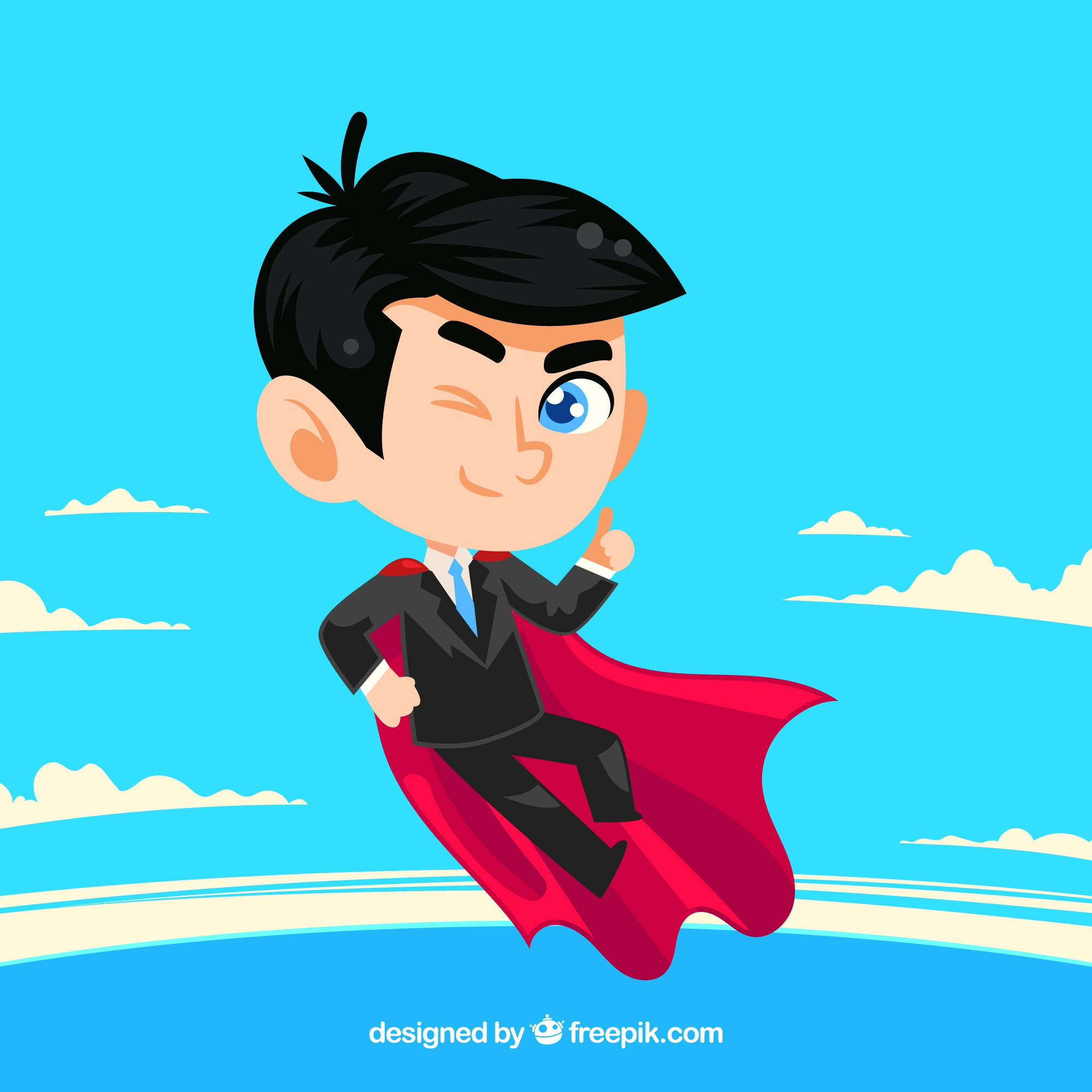 Background of businessman with cape