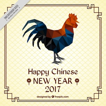 Background of chinese new year in polygonal style