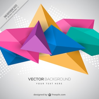 Background of colored polygonal shapes