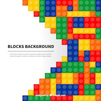 Background of colorful blocks in flat design