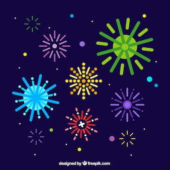 Background of colorful fireworks