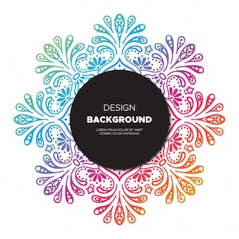 Background of colorful  hand drawn floral design