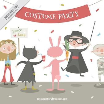 Background of costume party