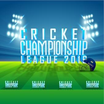Background of cricket stadium
