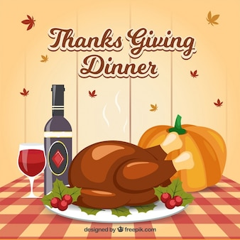 Background of delicious dishes for thanksgiving dinner