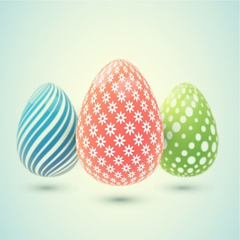 Background of easter eggs with different designs