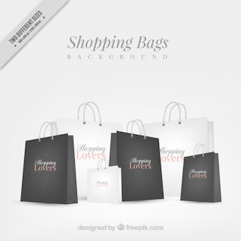 Background of elegant shopping bags