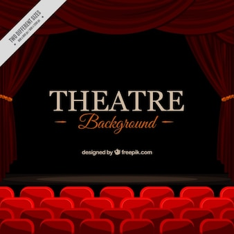 Background of elegant theater with red seats