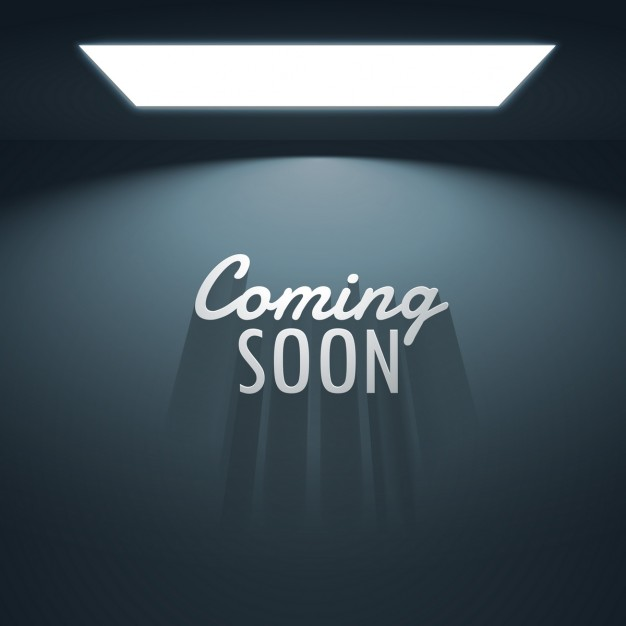 Background of empty room with text of  coming soon