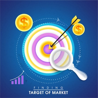 Background of finding target of market
