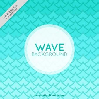 Background of geometric green waves