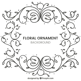 Background of hand drawn floral ornaments
