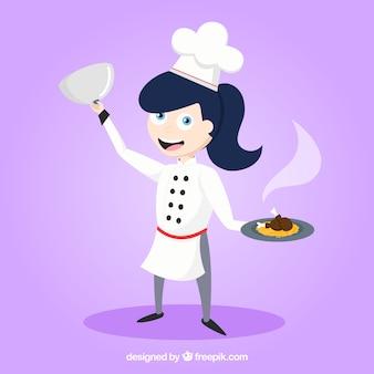 鶏料理と幸せな料理の背景