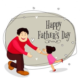 Background of happy father with his daughter to celebrate father's day