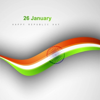 Background of indian republic day with wave