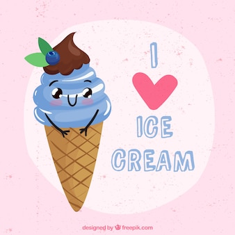 Background of lovely ice cream