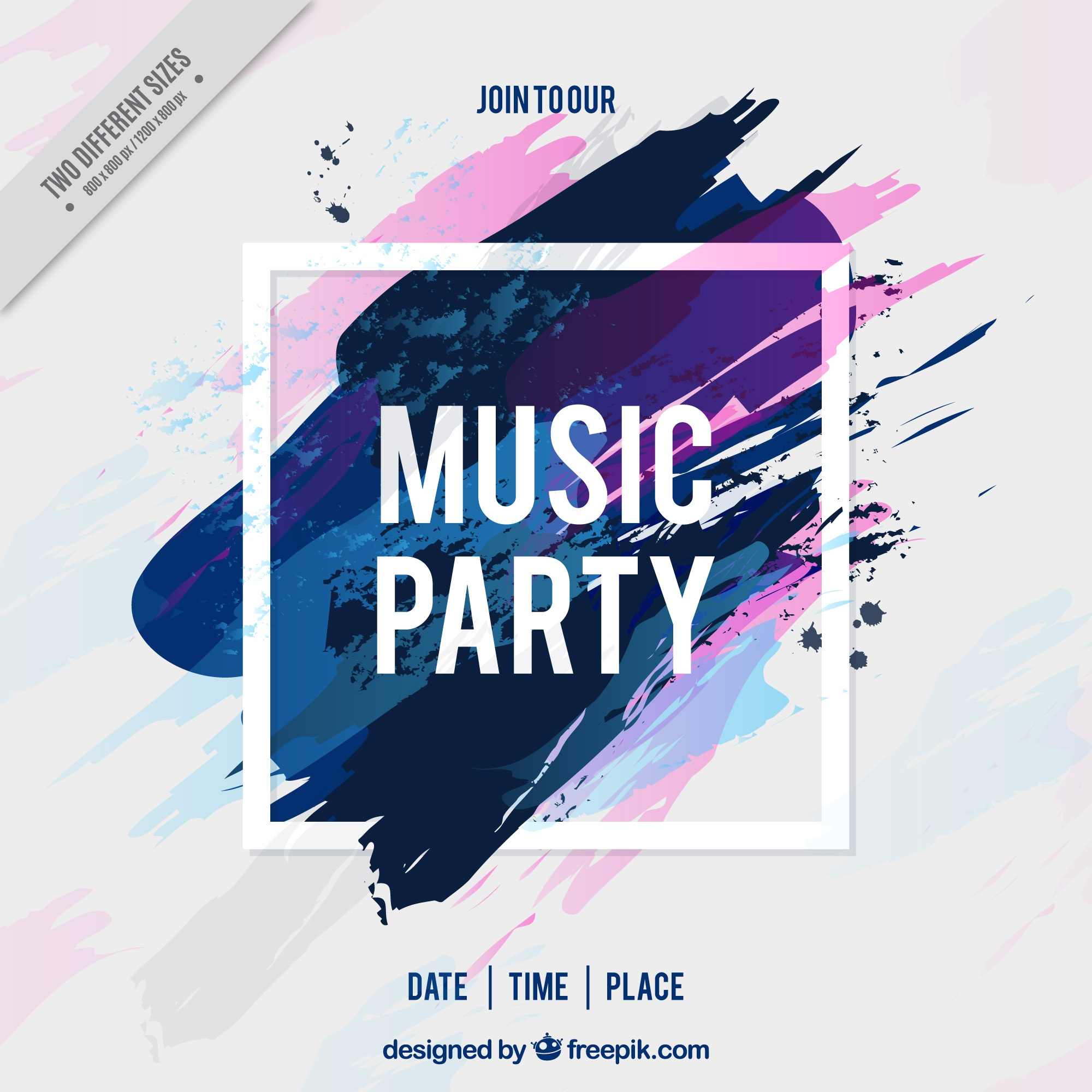Background of music party brushstrokes