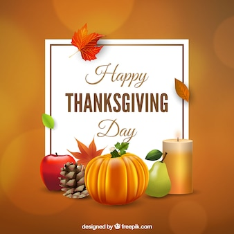 Background of natural elements of thanksgiving