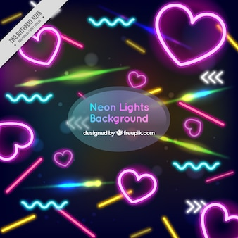 Background of neon shapes