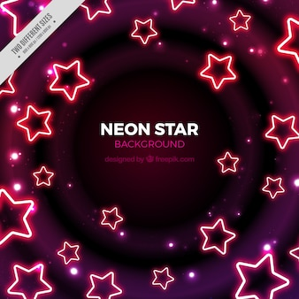 Background of neon stars