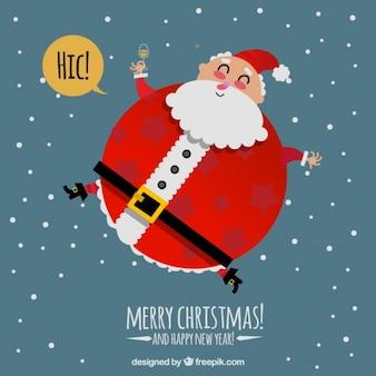 Background of nice big santa claus