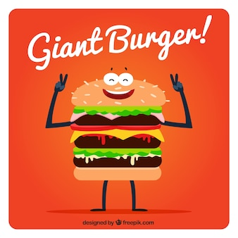 Background of nice giant hamburger
