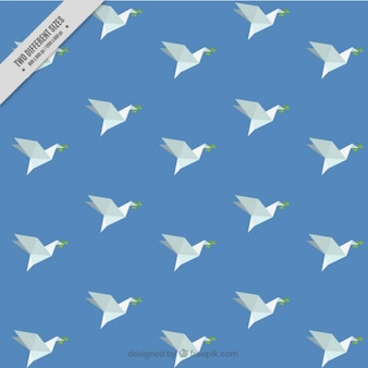 Background of  origami peace dove