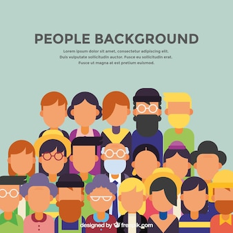 Background of people in flat design