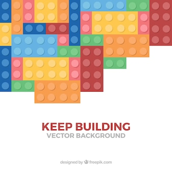 Background of pieces with message  keep building