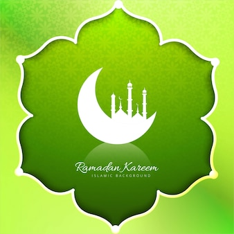 Background of ramadan kareem flower-shaped
